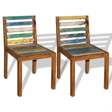 Vidaxl 2 pz sedie sala da pranzo legno massello riciclato for Sedie sala da pranzo prezzi