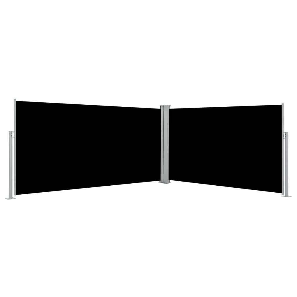 vidaXL Σκίαστρο Πλαϊνό Συρόμενο Μαύρο 160 x 600 εκ.