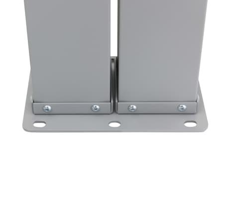vidaXL Infällbar sidomarkis 160x600 cm svart[7/7]