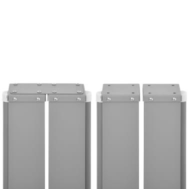 vidaXL Infällbar sidomarkis 160x600 cm svart[6/7]