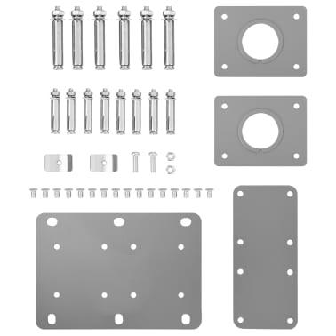 vidaXL Infällbar sidomarkis svart 160x600 cm[8/12]