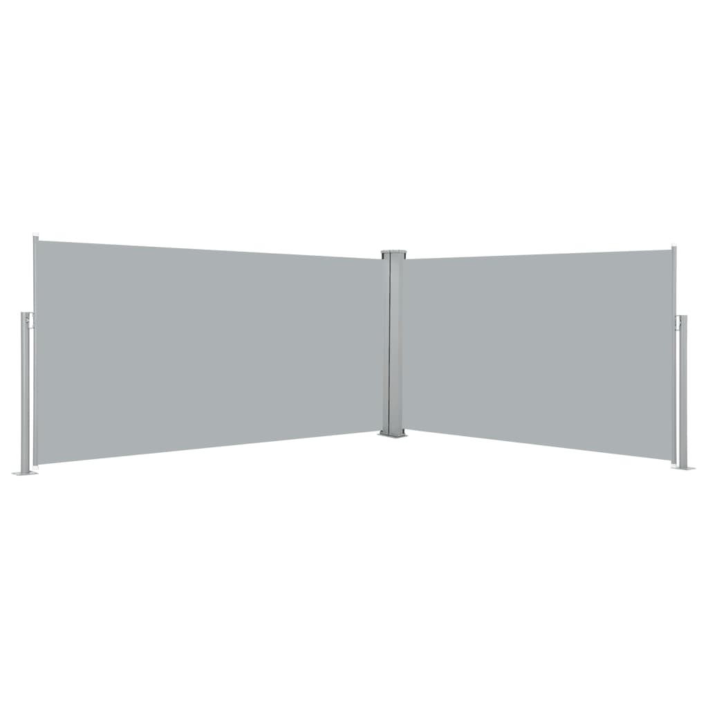 vidaXL Zatahovací postranní markýza / zástěna, 160x600 cm, šedá