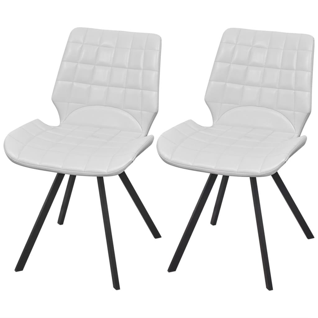 vidaXL Jídelní židle z umělé kůže 2 ks, bílé