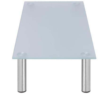 vidaXL Alza Schermo/Porta TV 80x35x17 cm in Vetro Bianco[3/4]