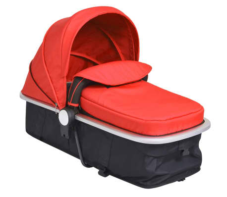 vidaXL 2-in-1 Baby Stroller/Pram Aluminium Red and Black[9/11]