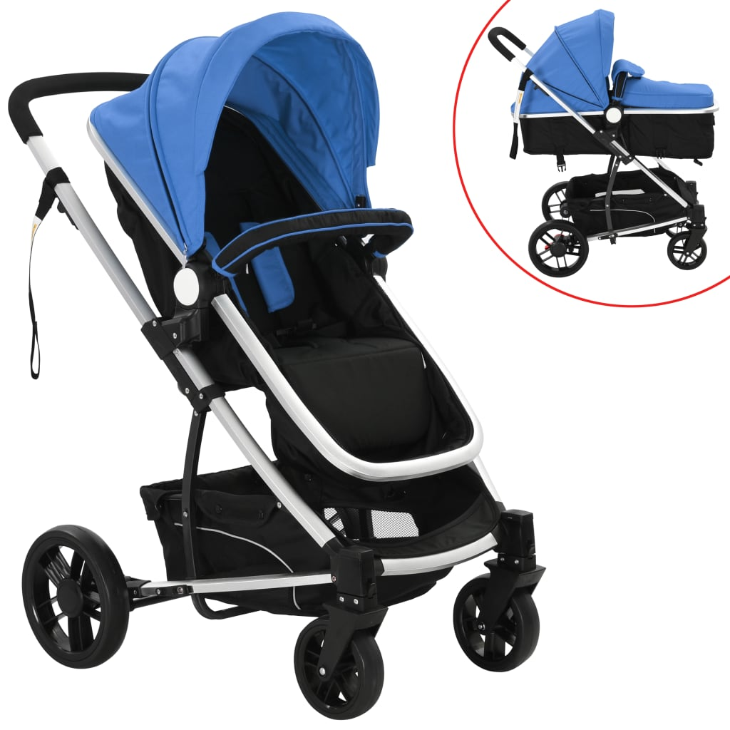 99910106 2-in-1 Buggy/Kinderwagen Aluminium blau und schwarz