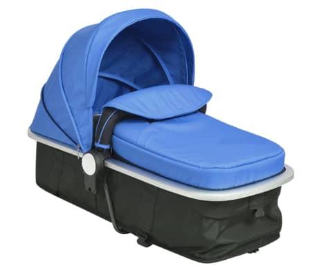 vidaXL 2-in-1 Vaikiškas sulankstomas vežimėlis, aliuminis, mėl./juodas[10/11]