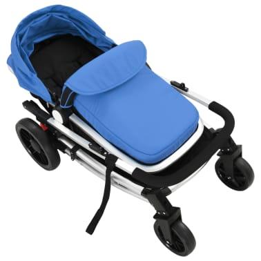 vidaXL 2-in-1 Vaikiškas sulankstomas vežimėlis, aliuminis, mėl./juodas[9/11]