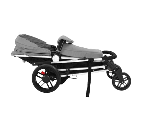 vidaXL 2-in-1 Baby Stroller/Pram Aluminium Grey and Black[8/11]