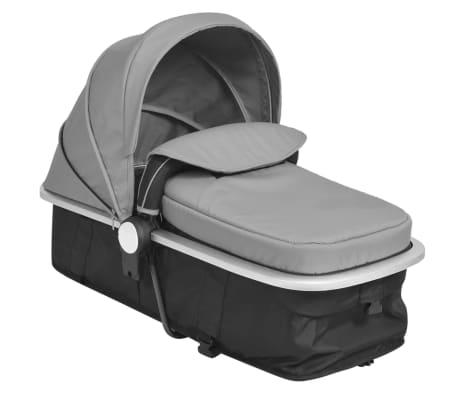 vidaXL Kinderwagen 2-in-1 grijs en zwart aluminium[10/11]