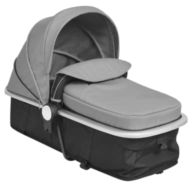 vidaXL 2-in-1 Baby Stroller/Pram Aluminium Grey and Black[10/11]