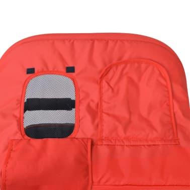 vidaXL Vaikiškas vežimėlis dvynukams, plienas, raudonas/juodas[12/14]