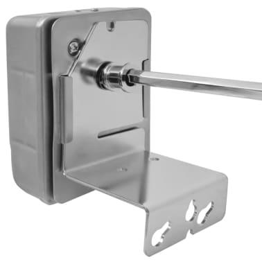 vidaXL BBQ Rotisserie-spyd med Motor Stål 1000 mm[4/8]