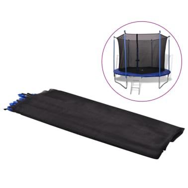 vidaXL Filet de sécurité pour trampoline rond 3,05 m PE Noir[1/5]