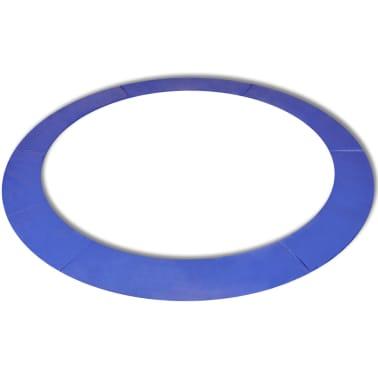 vidaXL Coussin de sécurité PE trampoline rond de 13 pieds/3,96 m Bleu[1/4]