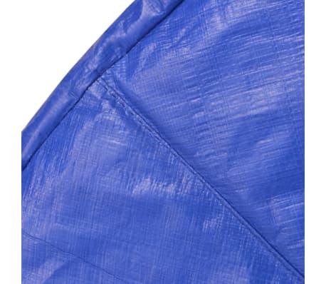 vidaXL Coussin de sécurité PE trampoline rond de 13 pieds/3,96 m Bleu[3/4]