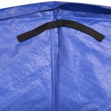 vidaXL Coussin de sécurité PE trampoline rond de 13 pieds/3,96 m Bleu[4/4]