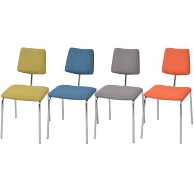 Vidaxl set sedie sala da pranzo 4 pz in tessuto for Sedie sala da pranzo prezzi