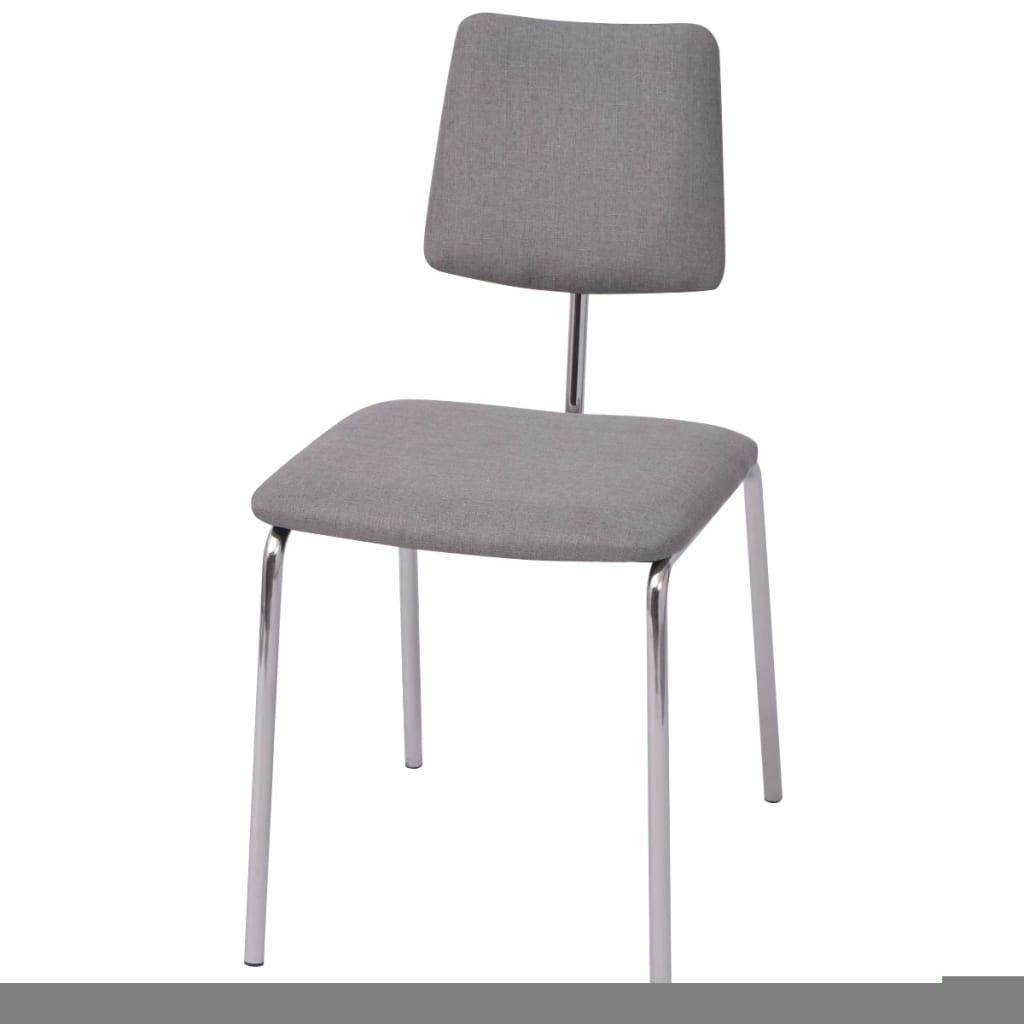 vidaXL Jídelní židle šedá textilní
