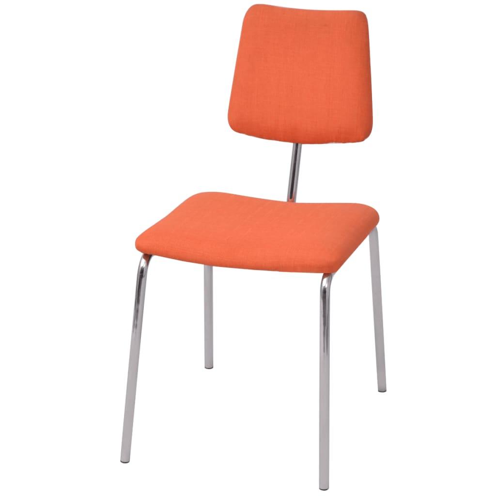 vidaXL Jídelní židle oranžová textilní