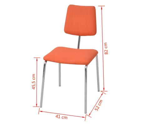 acheter vidaxl chaise de salle 224 manger orange tissu pas