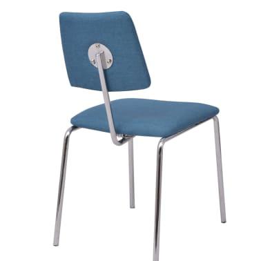 acheter vidaxl chaise de salle manger bleu tissu pas cher. Black Bedroom Furniture Sets. Home Design Ideas