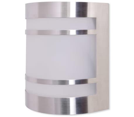 vidaXL udendørs væglampe i rustfrit stål[2/6]