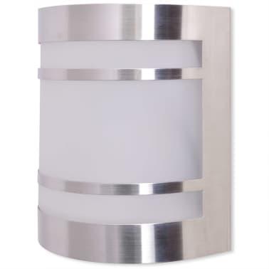42218 vidaXL Lámpara de pared para exteriores acero inoxidable[2/6]