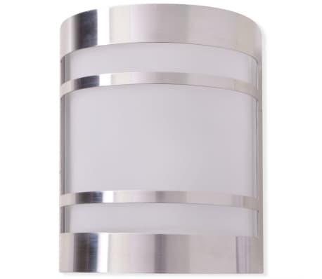 vidaXL udendørs væglampe i rustfrit stål[3/6]