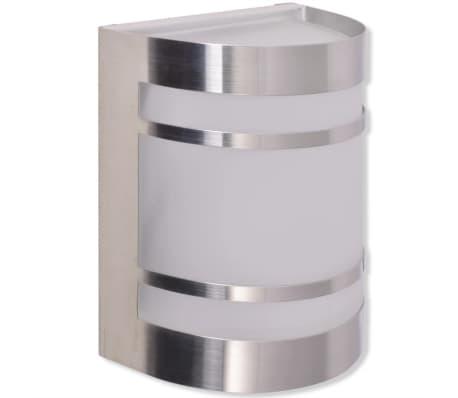 42218 vidaXL Lámpara de pared para exteriores acero inoxidable[4/6]