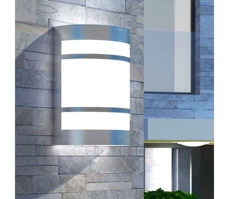 vidaXL udendørs væglampe i rustfrit stål[1/6]