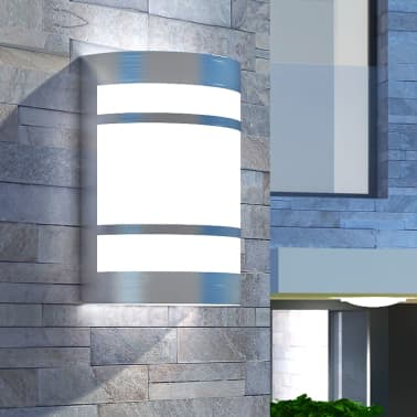 42218 vidaXL Lámpara de pared para exteriores acero inoxidable[1/6]