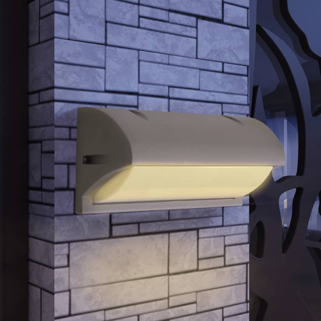 vidaXL Venkovní nástěnné svítidlo hliník šedá