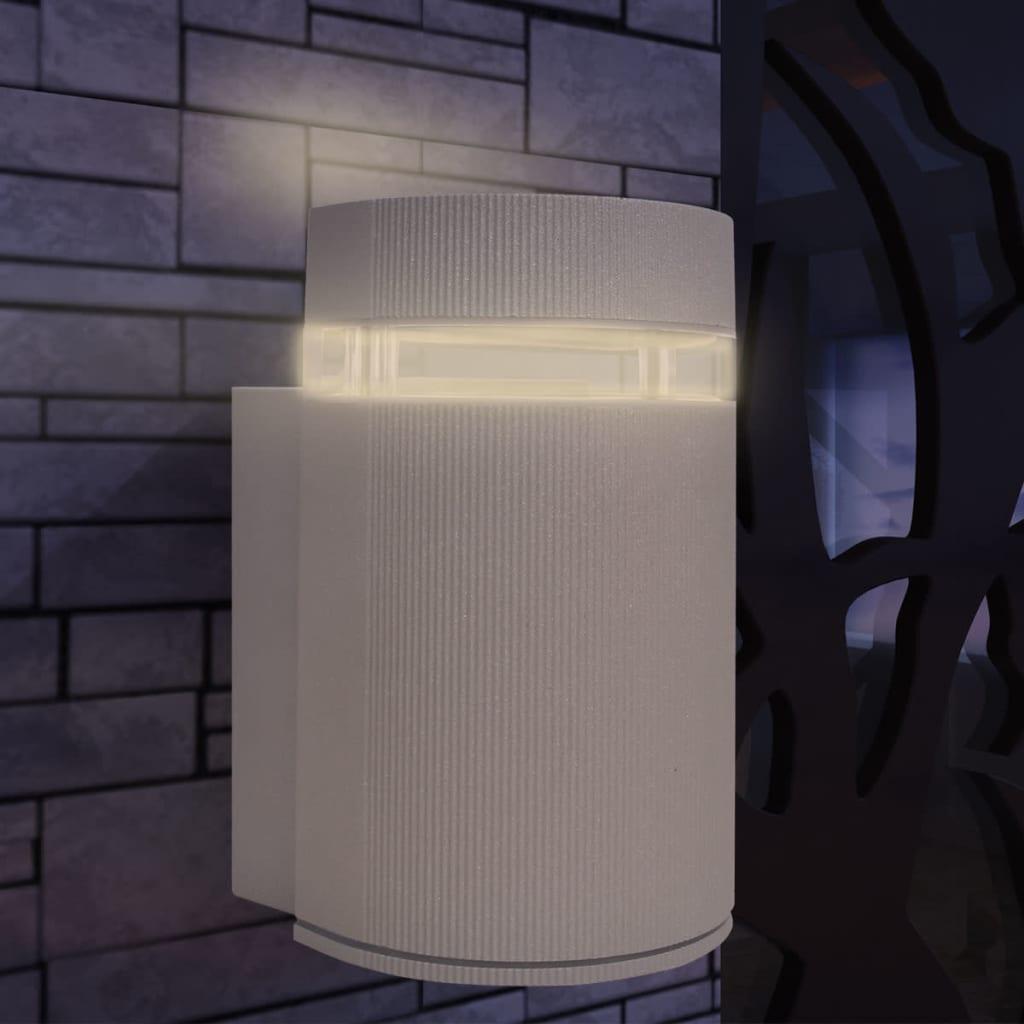 vidaXL Wandlamp voor buiten halfrond grijs aluminium