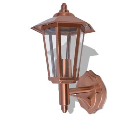 vidaXL udendørs opadlysende væglanterne rustfrit stål kobber[2/5]