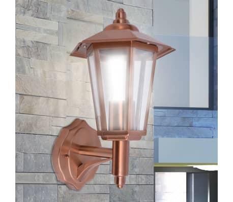 vidaXL udendørs opadlysende væglanterne rustfrit stål kobber[1/5]