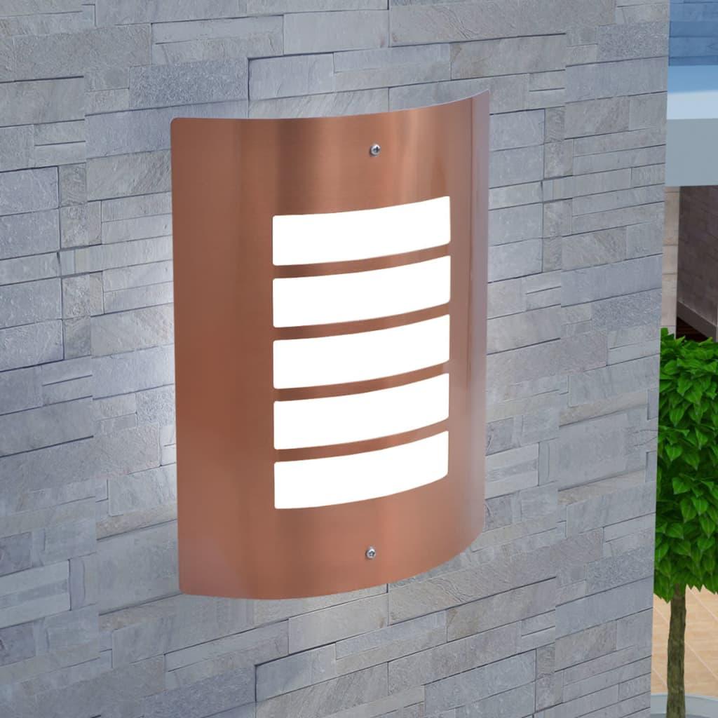 vidaXL Venkovní nástěnné svítidlo z nerezové oceli měděný odstín