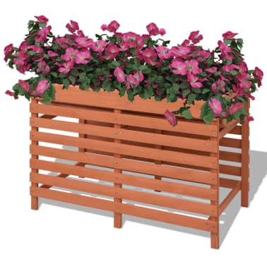 vidaXL Skrzynka na kwiaty, drewniana, 100x50x71 cm[1/5]