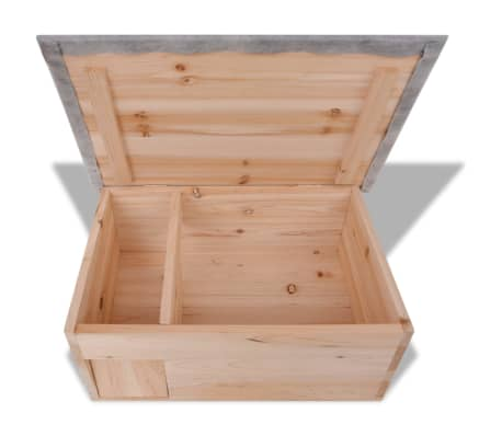 "vidaXL Hedgehog House 17.7""x13""x8.7"" Wood[4/5]"