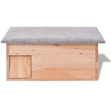 "vidaXL Hedgehog House 17.7""x13""x8.7"" Wood[2/5]"