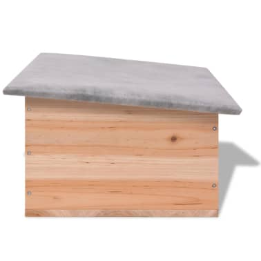 "vidaXL Hedgehog House 17.7""x13""x8.7"" Wood[3/5]"