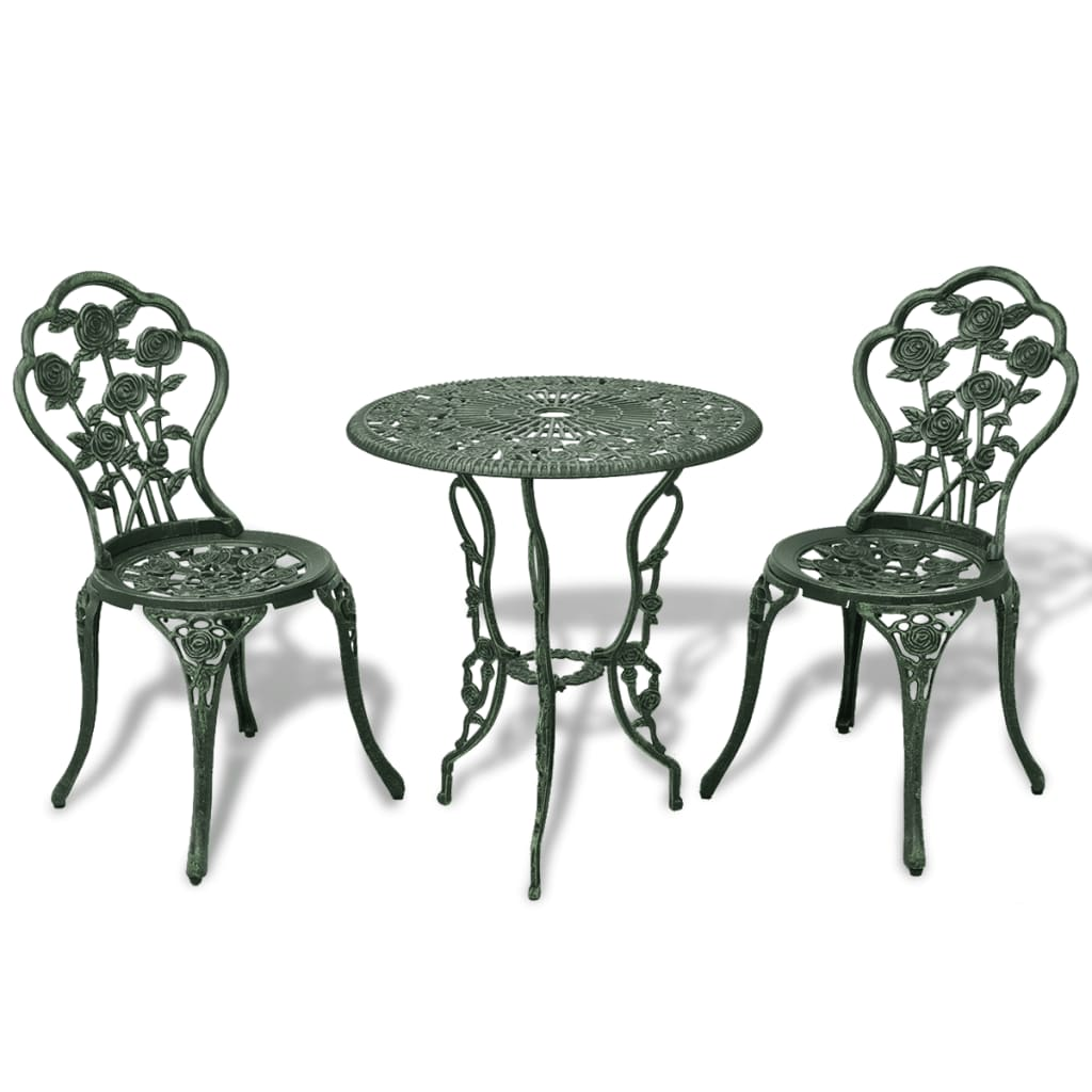 vida-xl-three-piece-bistro-set-green-cast-aluminium