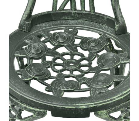 vidaXL Jeu de bistro 3 pcs Aluminium coulé Vert[8/11]