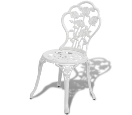vidaxl jeu de bistro 3 pcs aluminium coul blanc. Black Bedroom Furniture Sets. Home Design Ideas