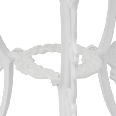 vidaXL Set da Bistrot 3 pz in Alluminio Pressofuso Bianco[3/9]
