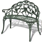 vidaXL Garden Bench Green Cast Aluminum