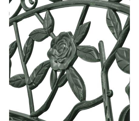 vidaXL Záhradná lavička 100 cm, odlievaný hliník, zelená[3/4]