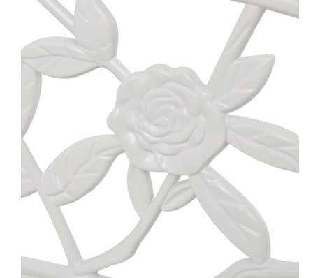 "vidaXL Garden Bench 39.4"" Cast Aluminium White[3/4]"