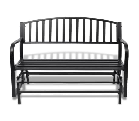 vidaXL Swing Bench Black Steel[2/8]