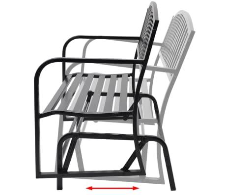 vidaXL Swing Bench Black Steel[3/8]